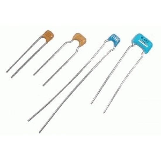 Kondenzátor keramický 470p 50V dovoz rm2.5 modrý DOPREDAJ