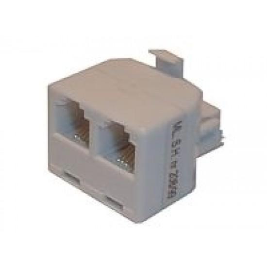 Redukcia telefónna konektor / 2x zdierka 8p-8c