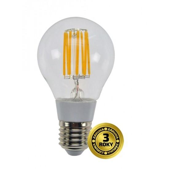 LED žiarovka retro, klasický tvar, 8W, E27, 3000K, 360°, 750lm