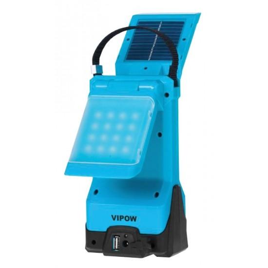 Svietidlo kempingové LED 2x16 solárne s nabíjaním auto aj zo siete