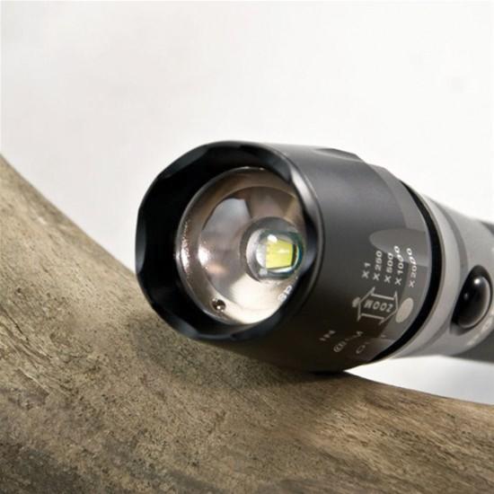 Svietidlo nabíjacie LED CREE T6 XML + DC 12V aj AC 230V adaptér