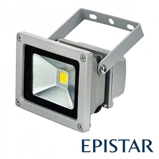 LED reflektor vonkajší 10W/ 800lm Epistar, MCOB, AC 230V, STUDENÁ, šedý