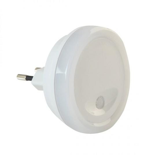 Nočné LED svietidlo so svetelným senzorom, guľaté
