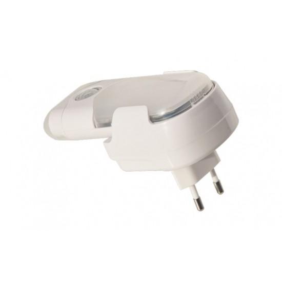 Nočné LED svietidlo s pohybovým a svetelným senzorom, 4+6 LED LB2