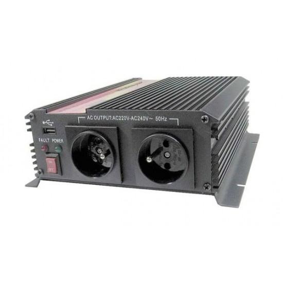 Menič napätia 12V/230V 1000W, USB