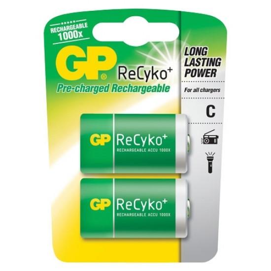 Batéria C (R14) nabíjacia GP Recykoplus 3000mAh