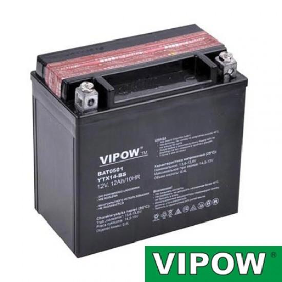 Batéria motocyklová 12V 12Ah VIPOW motobatéria