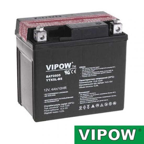 Batéria motocyklová 12V 4Ah VIPOW motobatéria