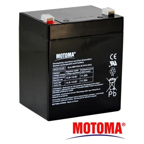 Batéria olovená 12V 4,5Ah MOTOMA bezúdržbový akumulátor