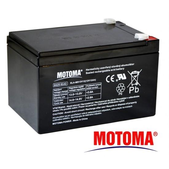Batéria olovená 12V/ 12Ah MOTOMA bezúdržbový akumulátor