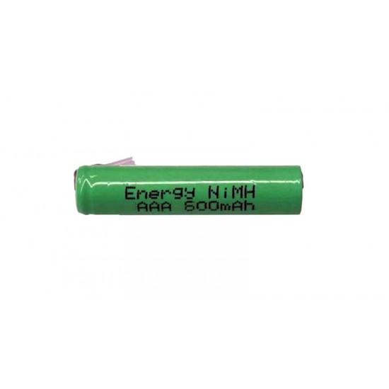 Nabíjací článok NiMH AAA 1,2 V/700mAh pásk. vývody