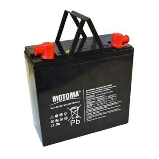 Batéria olovená 12V/20Ah - Trakčný MOTOMA bezúdržbový akumulátor