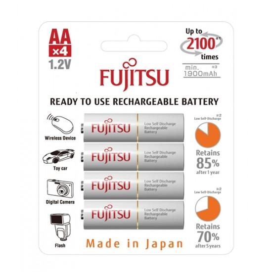 Batéria HR-3UTCEX-4B WHITE AA 4x FUJITSU nabíjacia