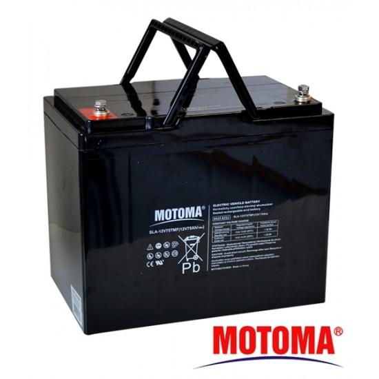 Batéria olovená 12V/75TMF - Trakčná MOTOMA (elektromotory)