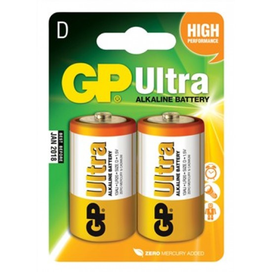 Batéria D (R20) alkalická GP Ultra Alkaline R20