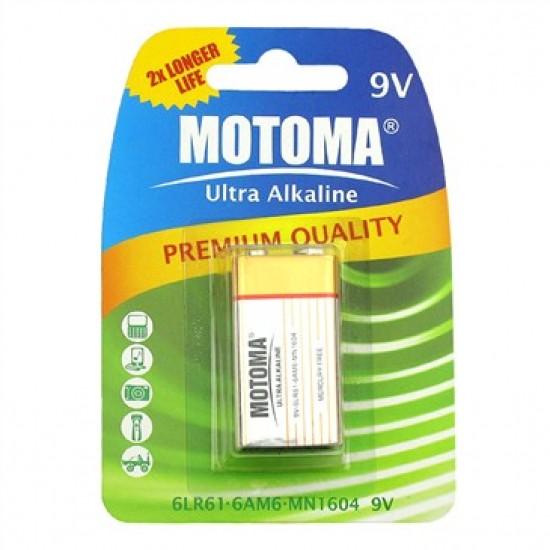 Batéria (9V) alkalická MOTOMA Ultra Alkaline 9V