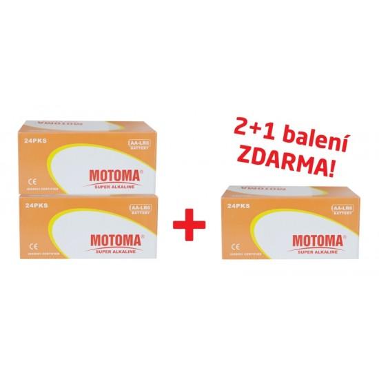 Balíček 2+1 Batéria alkalická AA (R6) MOTOMA Ultra alkaline (3 krabice 04270214)
