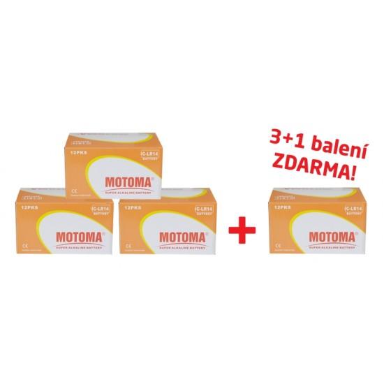 Balíček 3+1 Batéria C (R14) alkalická MOTOMA Ultra alkaline (4 krabice 04270218)