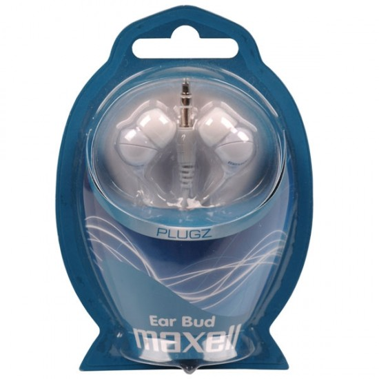 Slúchadla Maxell 303438 PLUGZ WHITE