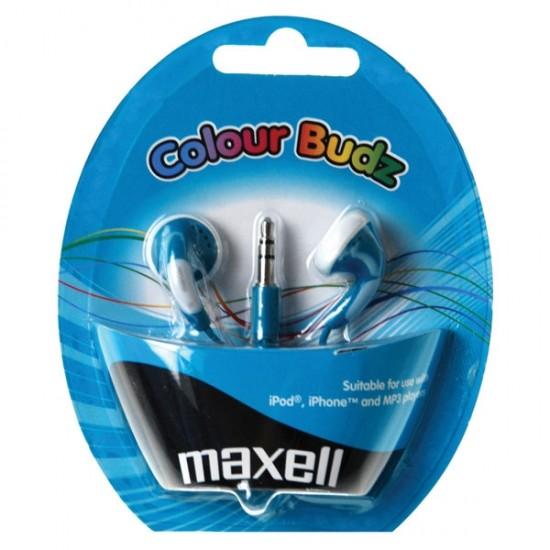 Slúchadla Maxell 303359 Colour Budz Blue