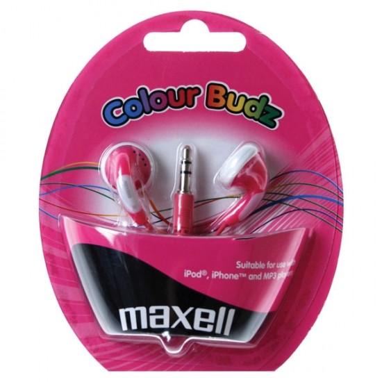 Slúchadla Maxell 303358 Colour Budz Pink
