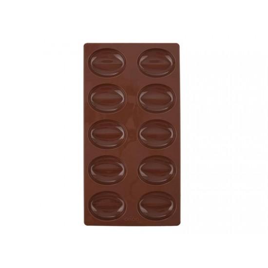Forma ORION Kávové zrná veľké silikón hnedá