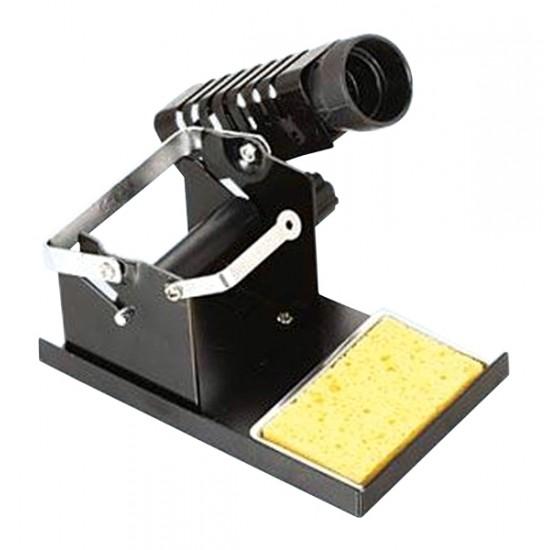 Stojan na mikrospájkovačku s držiakom na cievku s cínom