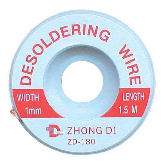Punčoška na odsávanie cínu 1mm/1,5m