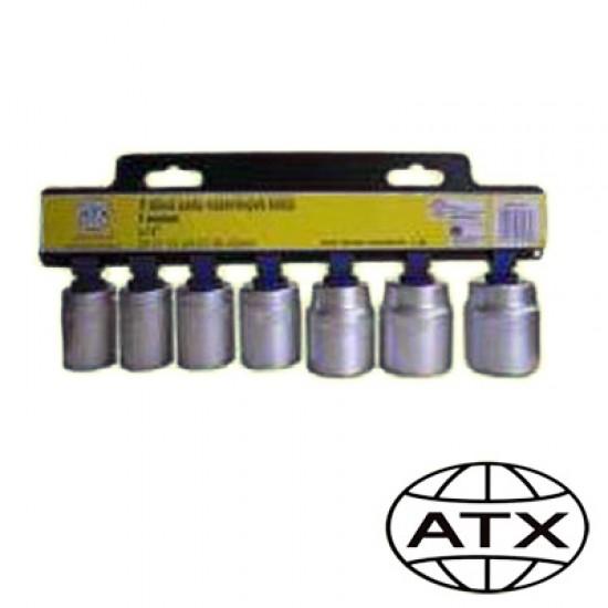 Súprava nástrčných kľúčov 7 dielna 1/2 - ATX profi
