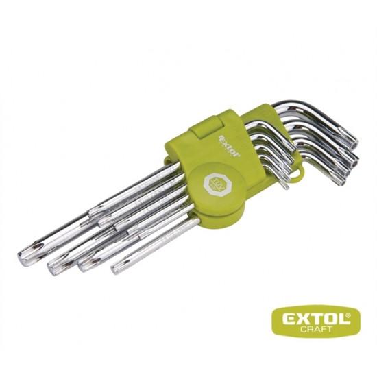 Sada L-kľúčov EXTOL CRAFT TORX 66011