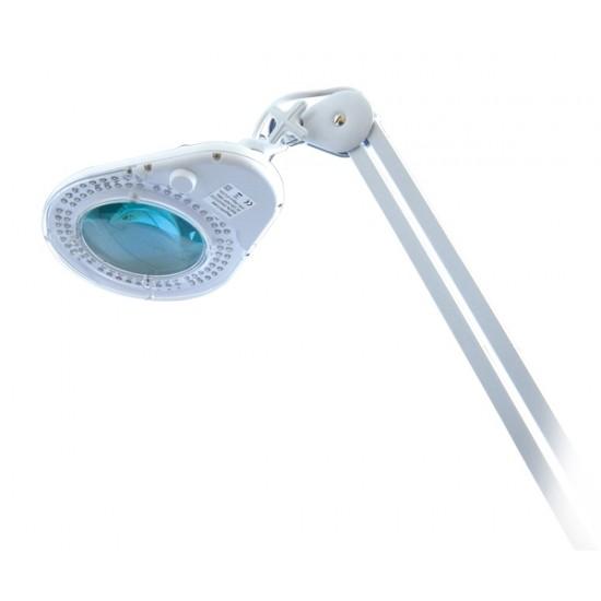 Lupa stolná guľatá (svorka) 5diop. LED (90x)