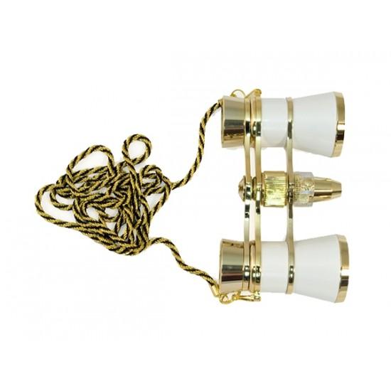 Divadelné kukátko LEVENHUK BROADWAY 325F biele, LED svietidlo a retiazka