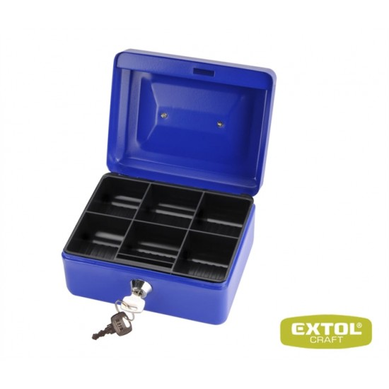 Pokladňa 200x16x90mm, 2 kľúče EXTOL CRAFT