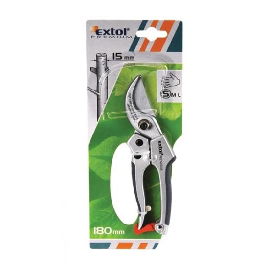 Nožnice záhradnícke 205mm, na strihanie konárov do priemeru 20mm, EXTOL PREMIUM
