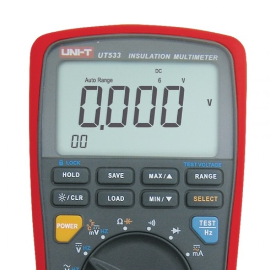 Multimeter UNI-T UT533 (+ tester izolácie)
