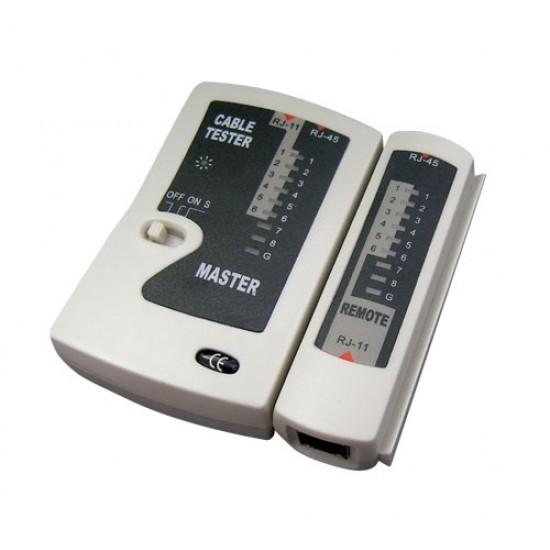 Tester káblov UTP (RJ45, RJ11)