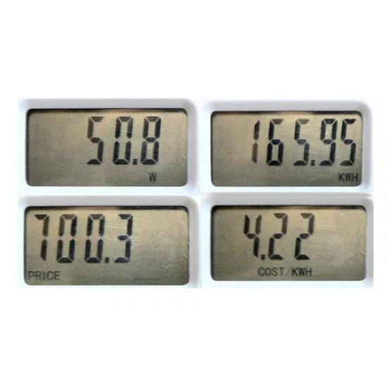 Elektromer zásuvkový merač spotreby s pamäťou PM5