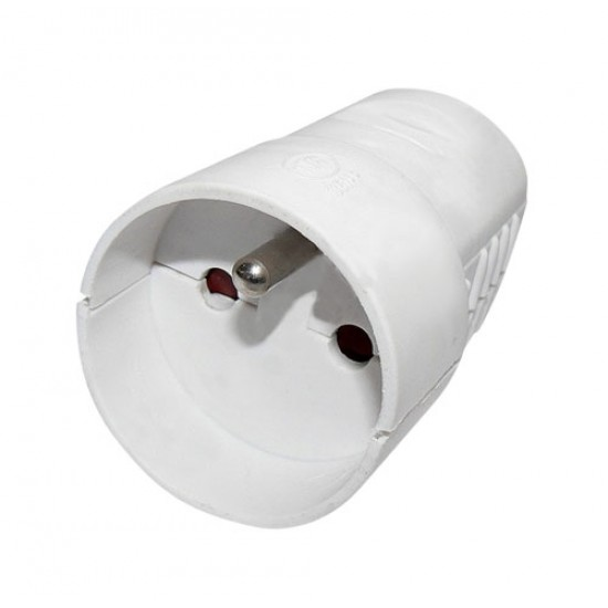 Zásuvka spojovacia biela