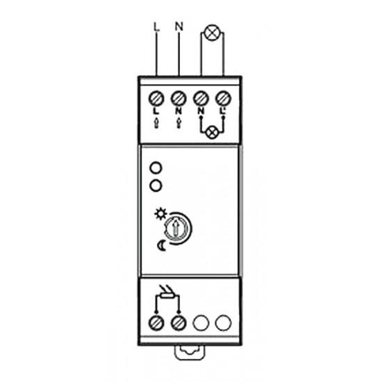 Súmrakový spínač ST308 na DIN lištu