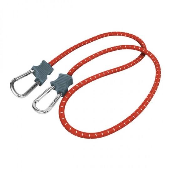 Popruhy elastické s karabínami, 10mmx80cm, kovová karabína EXTOL PREMIUM
