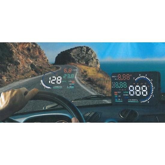 Monitor do auta s HUD projekčným displejom 5,5