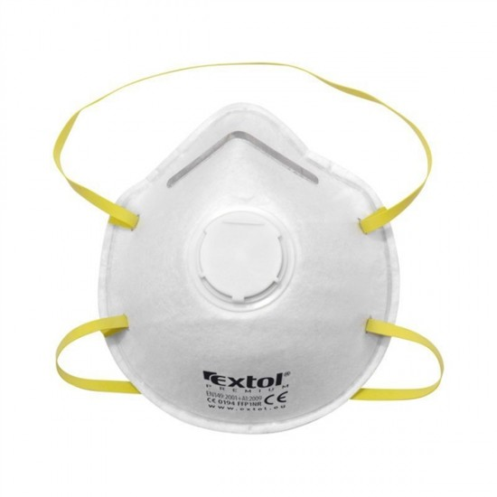 Respirátor - maska protiprašná s výdychovým ventilom FFP1, sada 5ks, tvarovaný, EXTOL PREMIUM