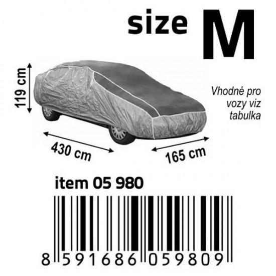 Plachta na auto ochranná, proti krupám M 430×165×119cm