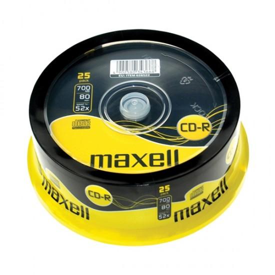 CD-R 700MB MAXELL 52x 25 ks