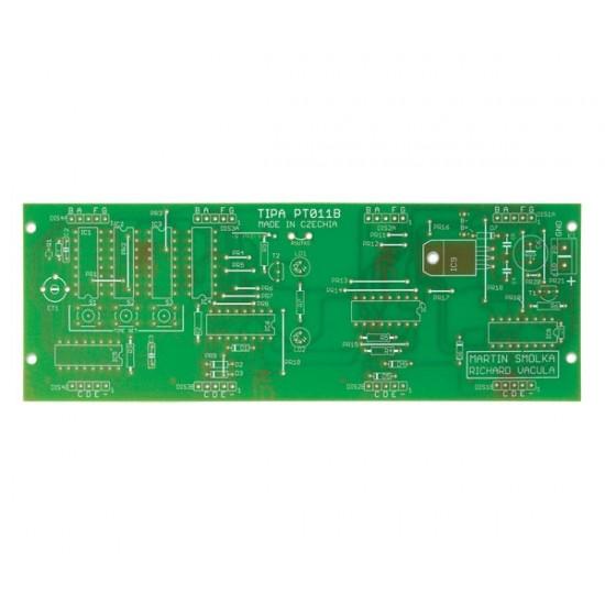 Plošný spoj PT011B CMOS digitálne hodiny s voliteľným LED displejom