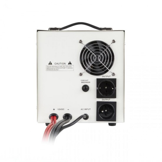 Záložný zdroj PROsinus 1200W 12V/ 230V KEMOT biely