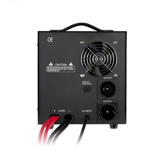Záložný zdroj PROsinus 1200W 12V/ 230V KEMOT čierny
