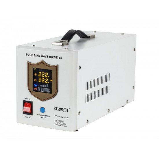 Záložný zdroj PROsinus 700W 12V/ 230V KEMOT biely